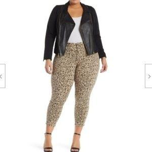 NYDJ Jean Alina Ankle Leopard Print Skinny Jean